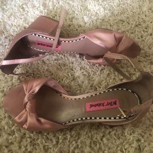 Betsey Johnson Satin Sandals